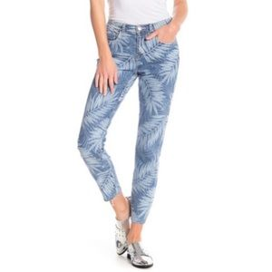 Current Elliott Stiletto Leaf Print Jeans 27